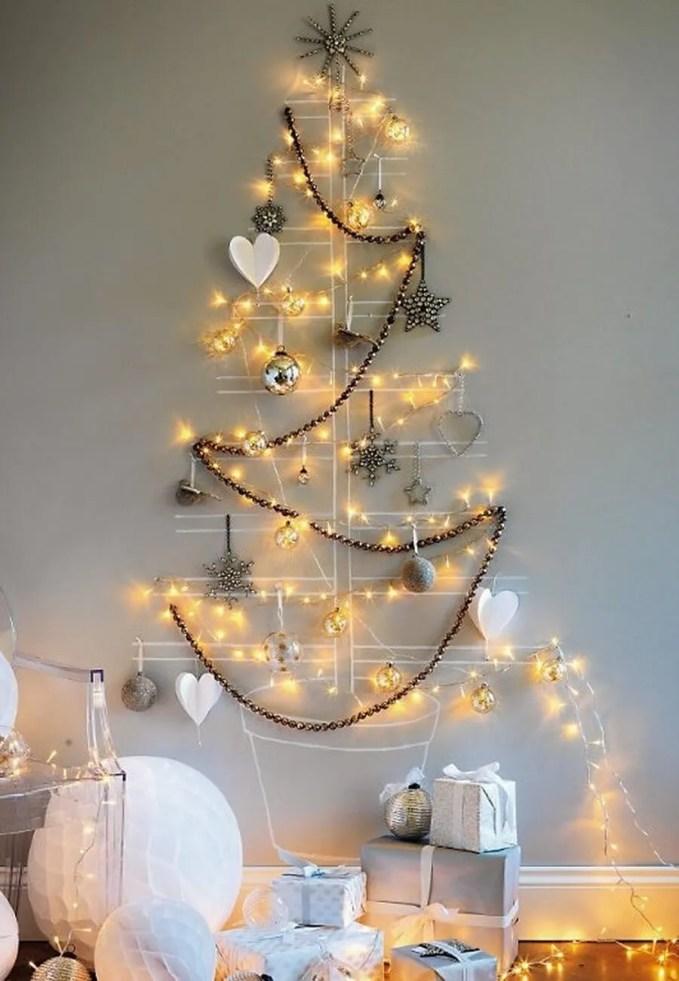 diy-merry-christmas-tree-lights-wall