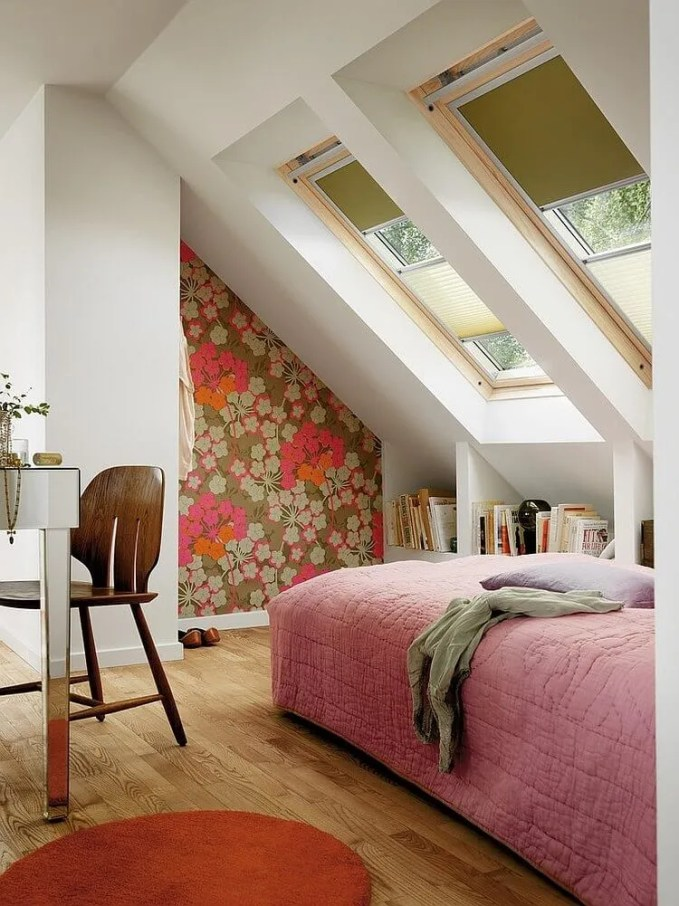 Charming Bedroom with Skylights