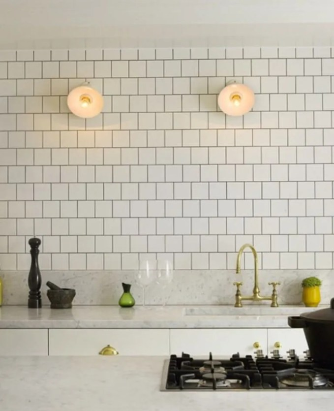 Chic Kitchen With Brass Faucet