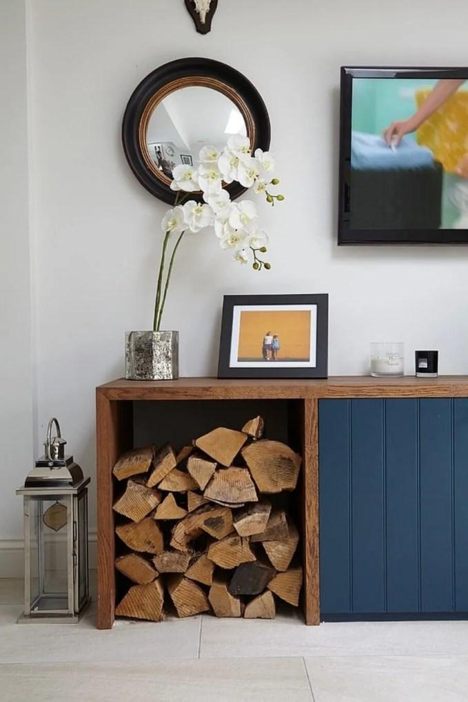 Custom Log Storage in a Sideboard