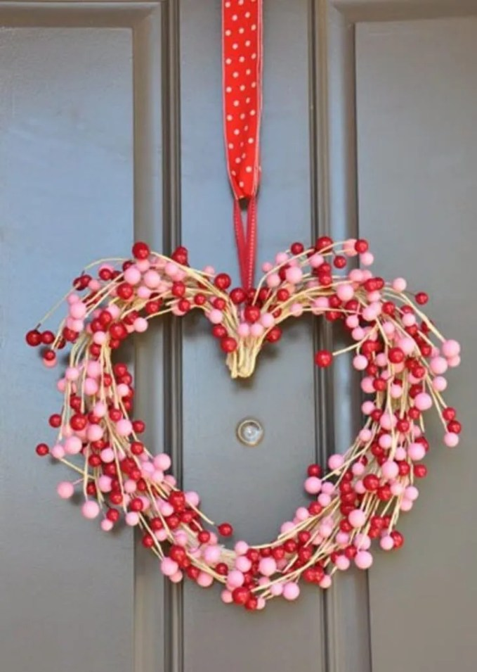 Cute Red and Pink Wreath