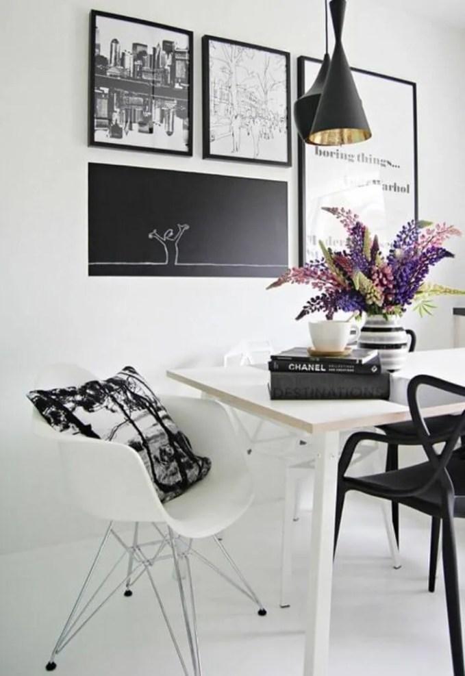 Modern High Contrast Dining Room