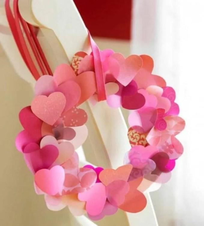 Paper Craft Hearts Wreath