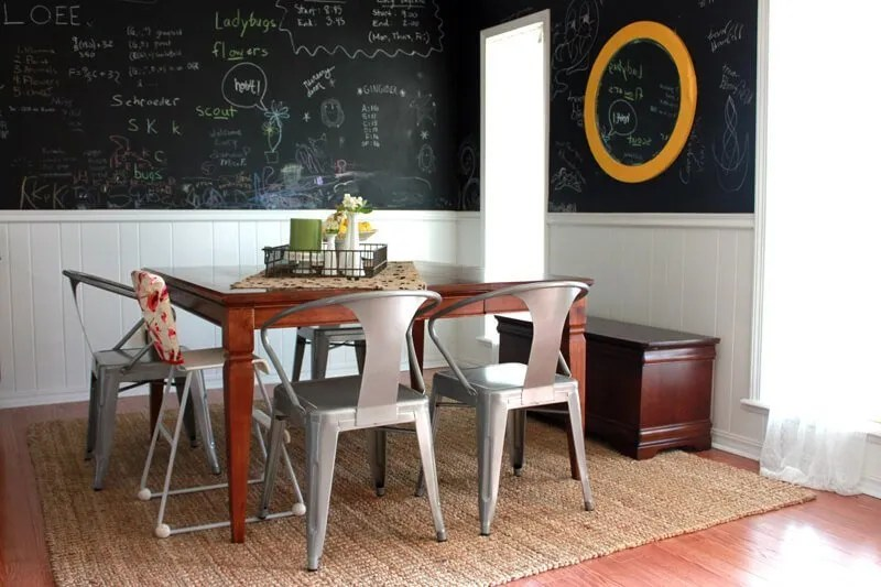 10 cool dining room designs with a chalkboard wall - https