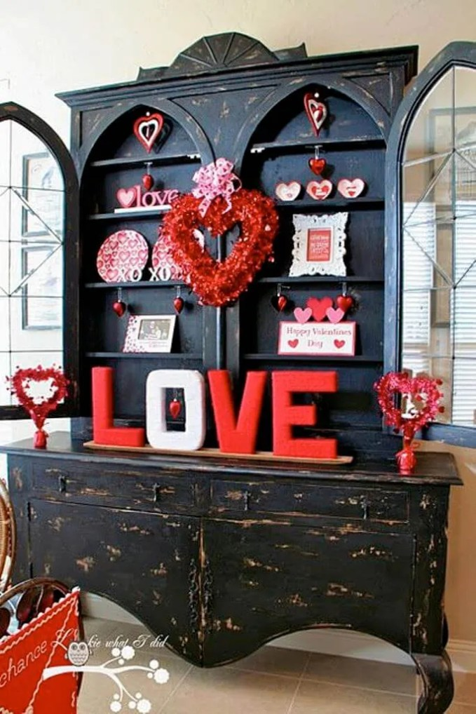 Rustic Hot Red Decor