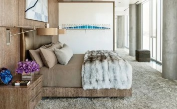 15 Super Chic Bedrooms with Faux Fur Bedding