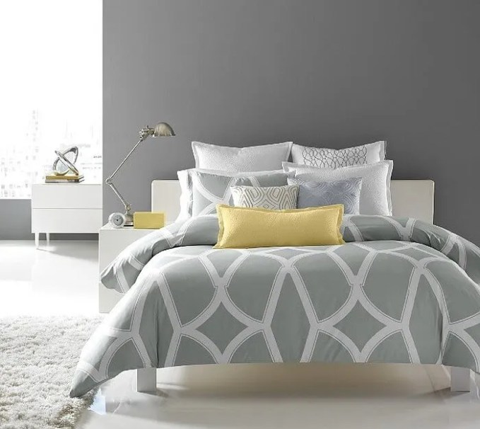 best 12 grey and yellow bedroom design ideas for cozy and modern vibe - https://interioridea/