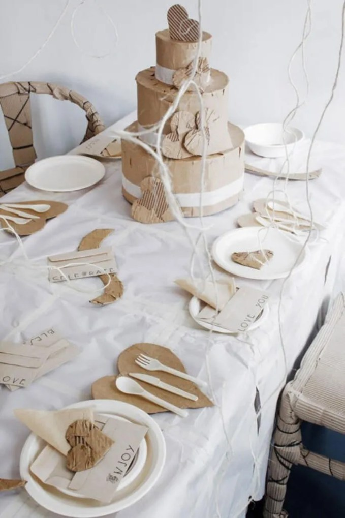 Shabby Chic Themed Valentine's table setting