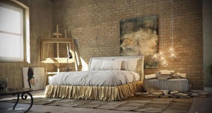 Artistic Indsutrial Chic Bedroom