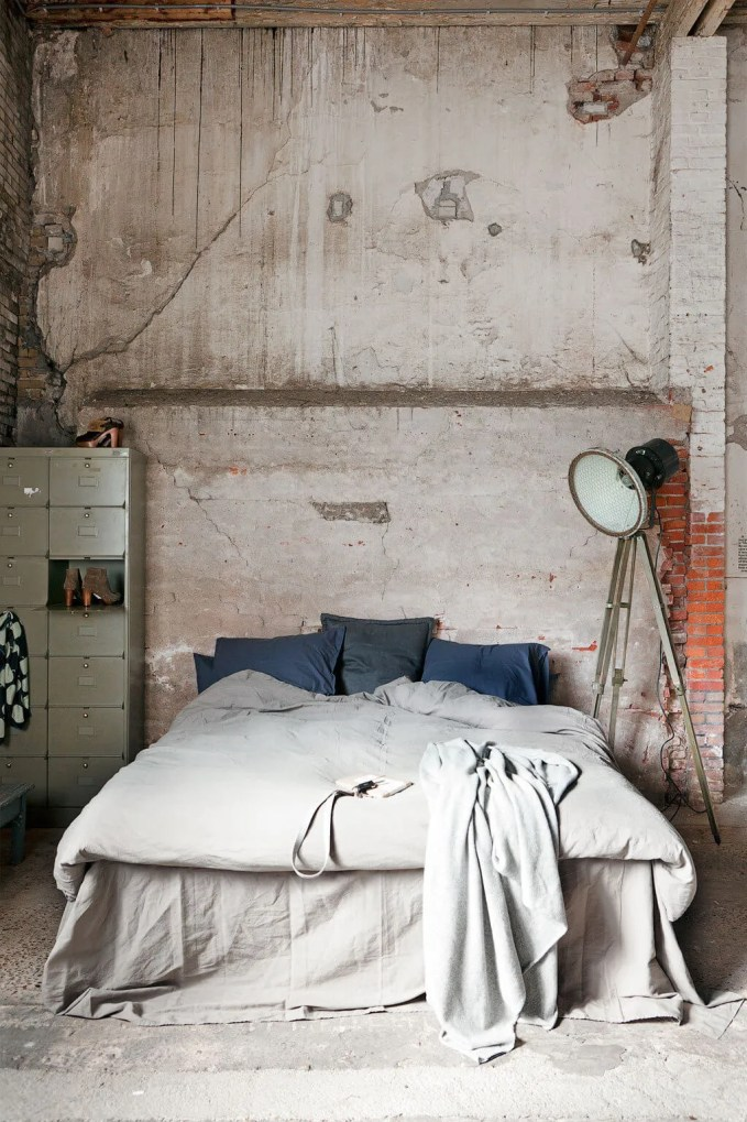 Bold Indsutrial Chic Bedroom