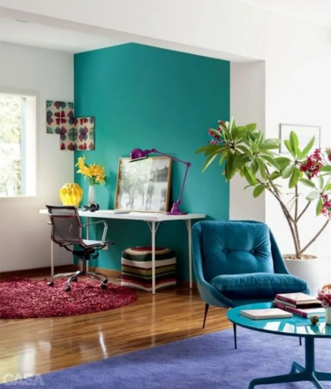 Color Block Home Office