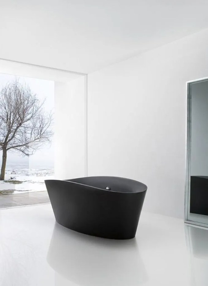 Mesmerizing High Contrast Bathroom