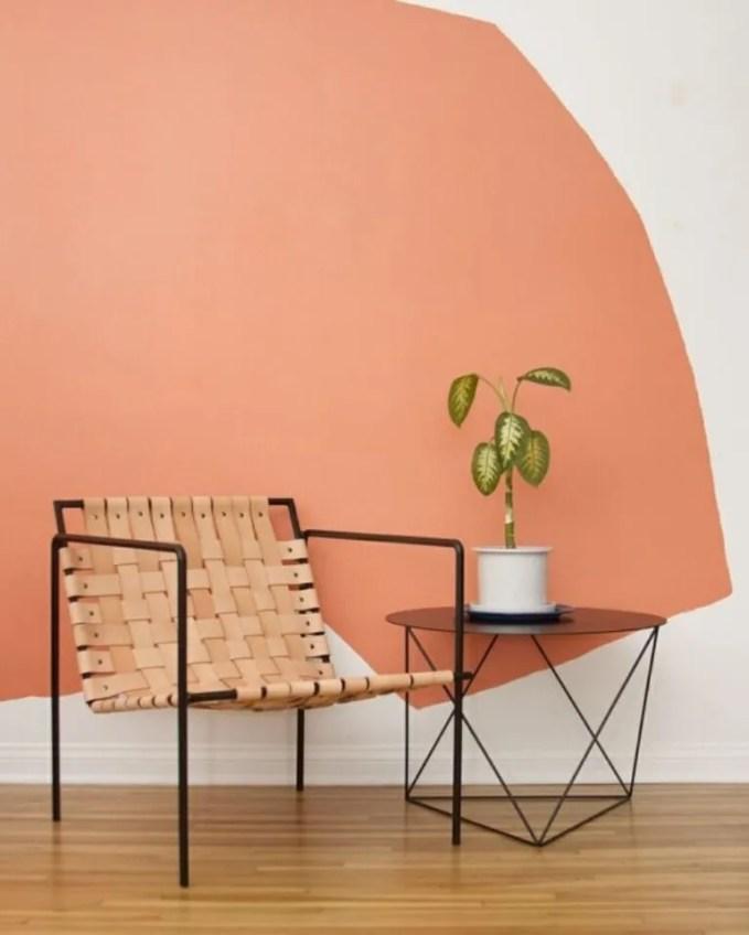 Pastel Color Block Wall