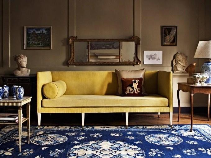 Pastel Yellow Sofa Design