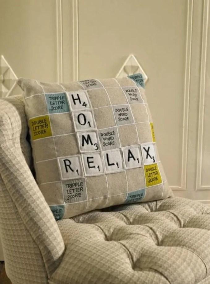 Scrabble Decorative Pillow