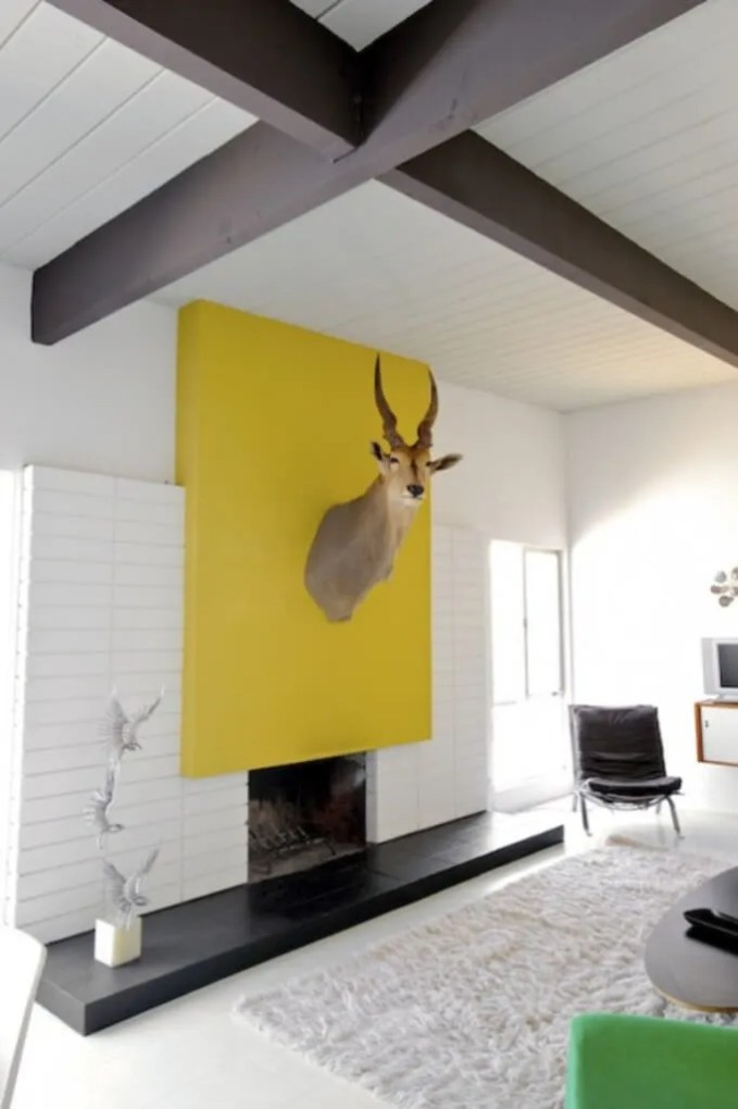 Statement Color Block In the Living Room