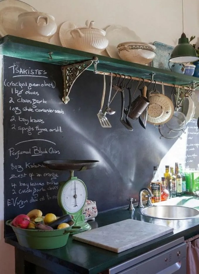 9 super cool kitchen designs with chalkboard wall https for 2 wall kitchen designs