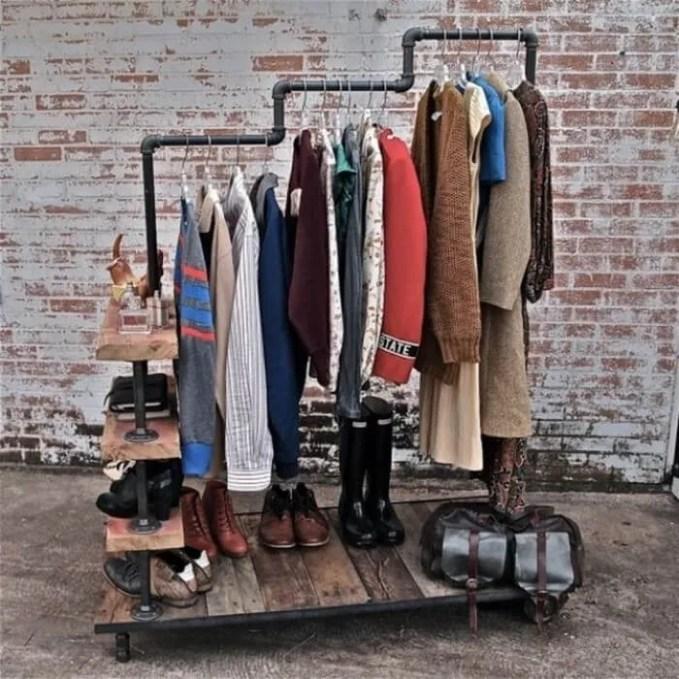 industrial-home-decor-rolling-clothes-rack-shoe-shelves-700x700