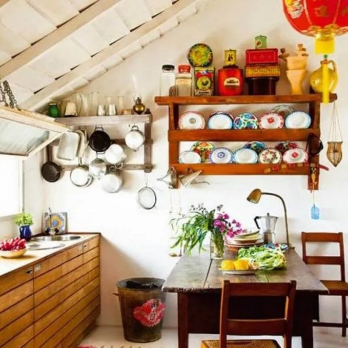 small-farmhouse-kitchen-ideas-with-open-shelves-with-racks-and-wooden-cabinets-with-island-and-oriental-paper-lantern-700x700