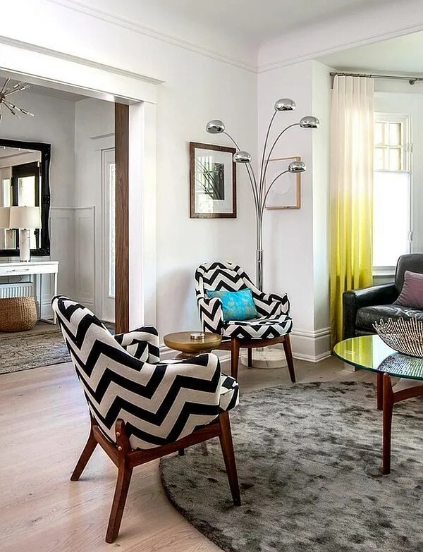 Chic Living Room with Chevron Armchair