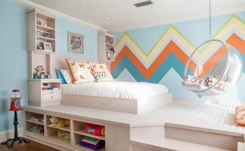 13 Accent Wall Ideas In Stylish and Cool Kid's Bedrooms