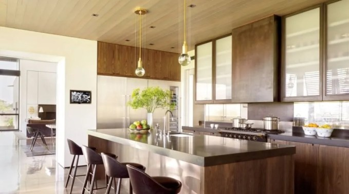 Modern Glass Kitchen Cabinets