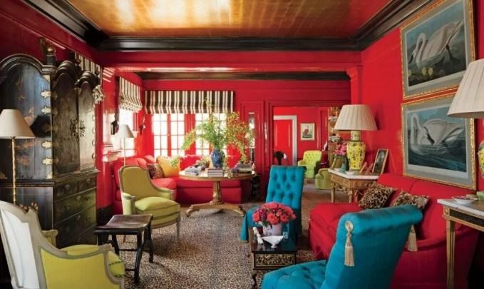 Opulent High Contrast Living Room