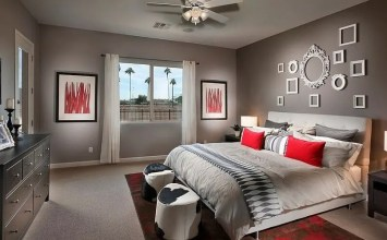 10 Refined Red and Gray Bedroom Design Ideas