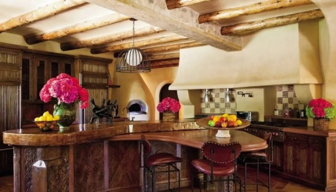 Rustic Exotic Kitchen