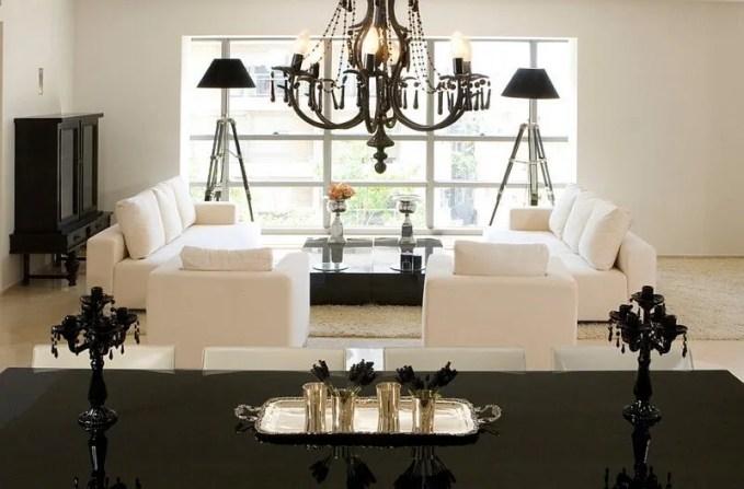 Splendid Black and White Living Room