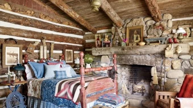 Bold Rustic Bedroom