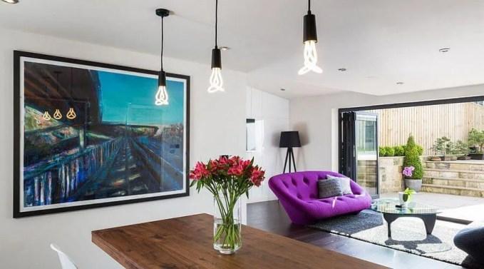 Contemporary Purple Sofa