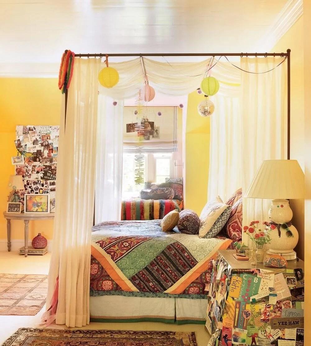8 bohemian chic teen girl's bedroom ideas - https://interioridea/
