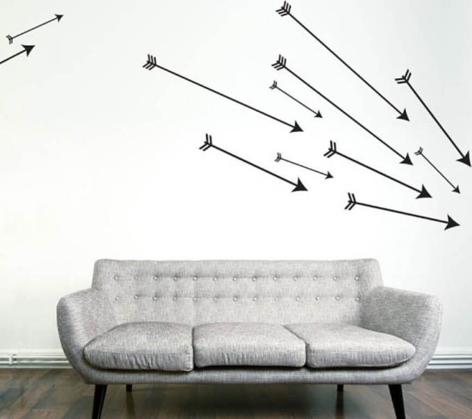Cupid's Arrows wall art decals
