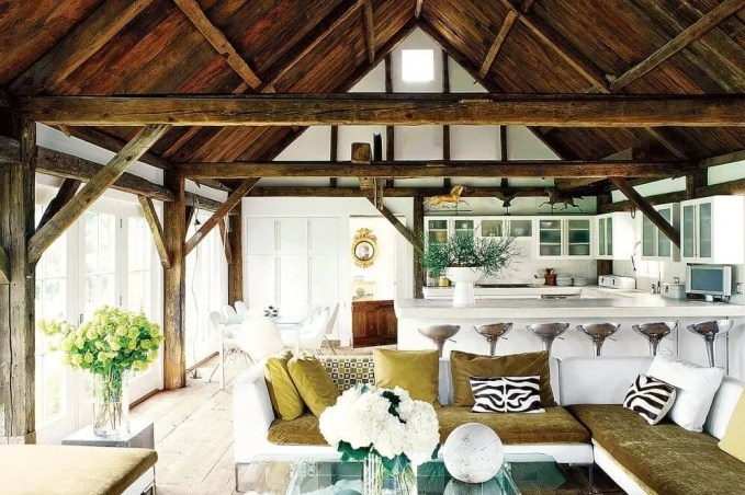 Rustic Chic Farmhouse Inspired Living Room
