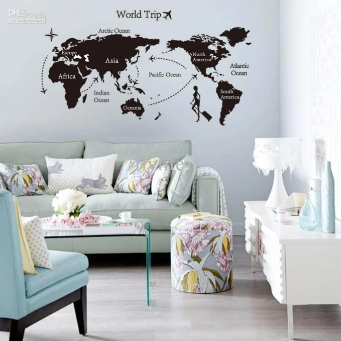 Wall World Map Decal