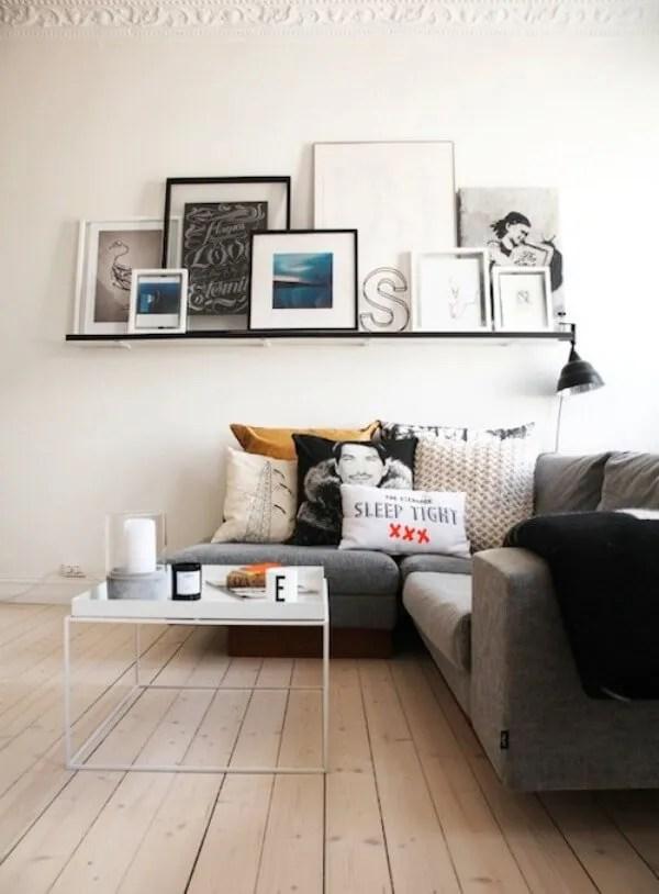 Black Floating Shelves for the Living Room