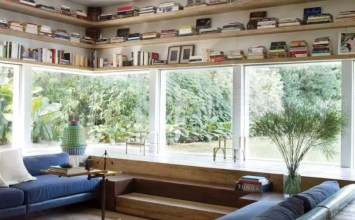 Floating Shelves in 9 Contemporary Living Rooms