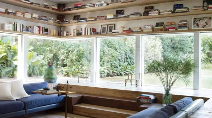 Contemporary Floating Shelves for the Living Room