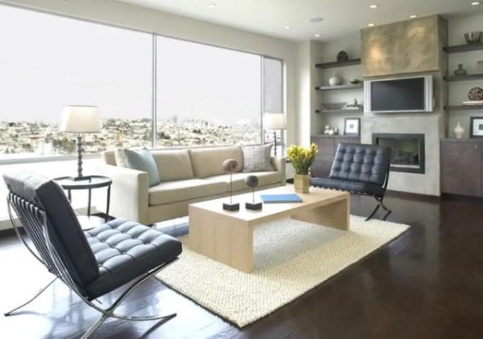 Gray Floating Shelves for the Living Room