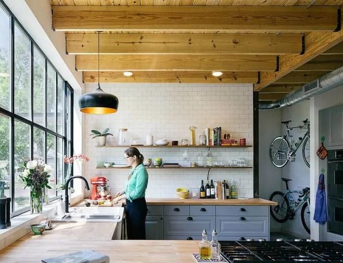 Bright Contemporary Industrial Kitchen Design