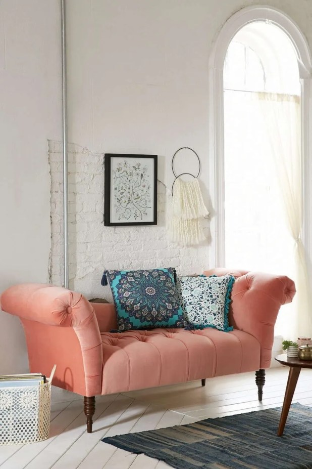 Coral Tufted Sofa