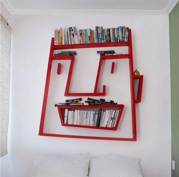 Funny Face Bookshelf