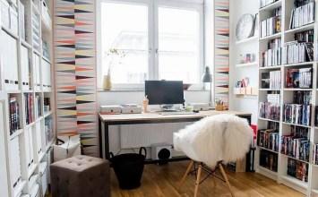9 Stylish Feminine Home Office Designs
