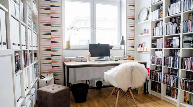 Geometric Feminine Home Office