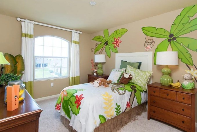 Jungle Themed Exotic Kid's Bedroom