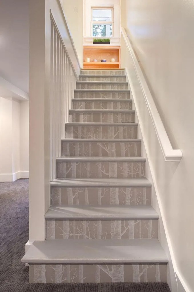 Woods Wallpaper For Staircase