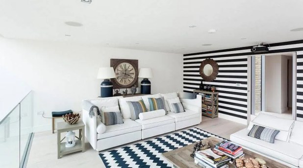 Black and White Striped Wall