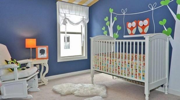 Contemporary Blue Nursery