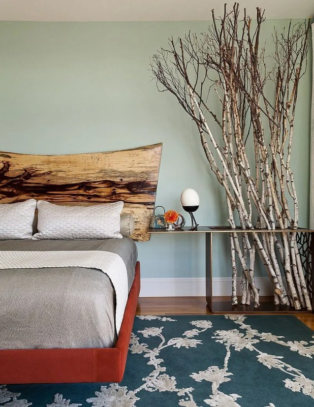 Contemporary Wood Headboard